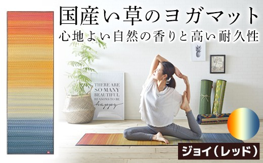 AE-0102-01 畳ヨガJAPAN ジョイ(60×180)(色:レッド)