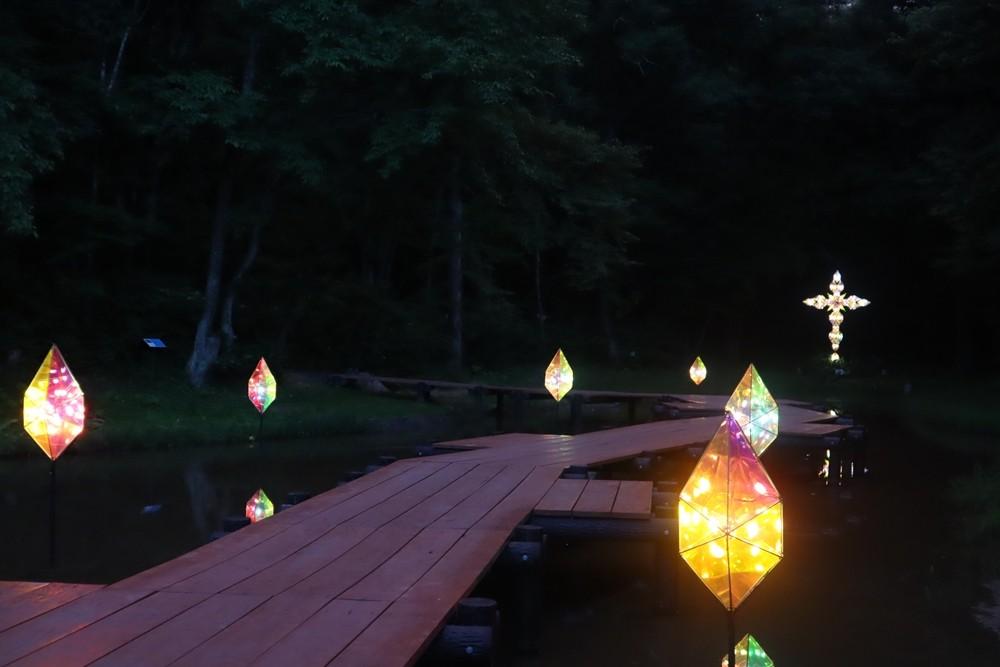 童話村の森ライトアップ2019