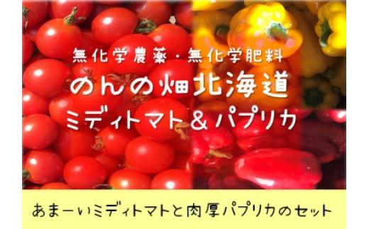 のんの畑北海道ミディトマトとパプリカセット(2020年発送分)