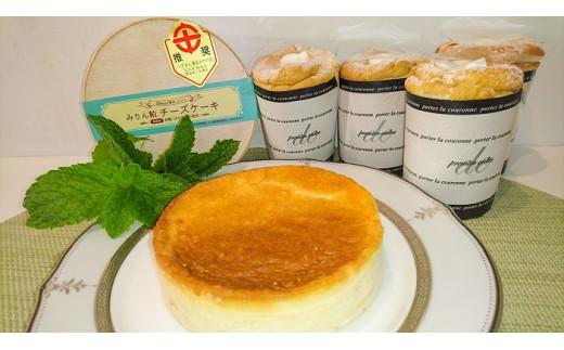 天使のシフォン&みりん粕チーズケーキ H080-004