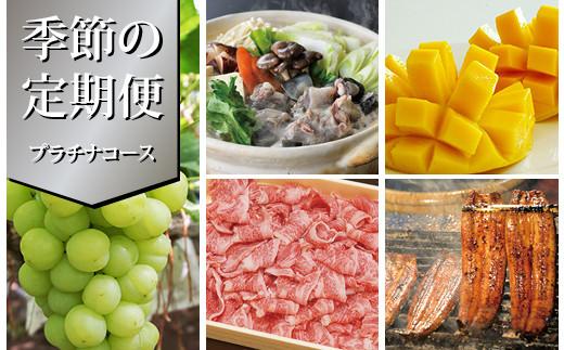 【季節の定期便】西都まるごと堪能セット プラチナコース<30-4>