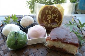 行方市のオススメ銘菓、あんこたっぷりぼた餅