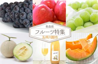 旬の甘さをぎゅっと詰め込んだフルーツを産地直送でお届け! 青森県五所川原市ならではの旬の味をお楽しみください。