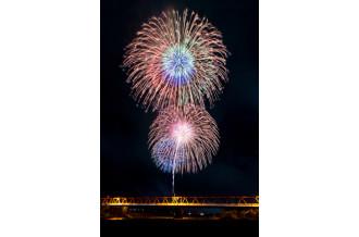 阿島橋より見える花火