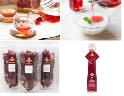 B131薔薇の紅茶とローズシロップセット