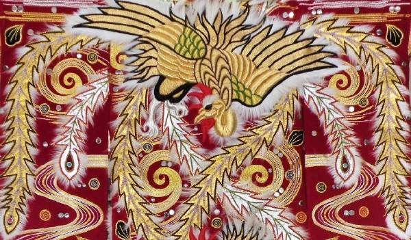 刺繍例(鳳凰)