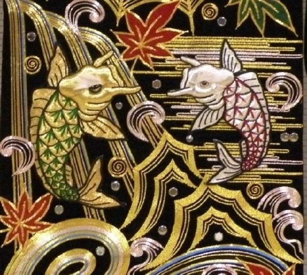 刺繍例(鯉)