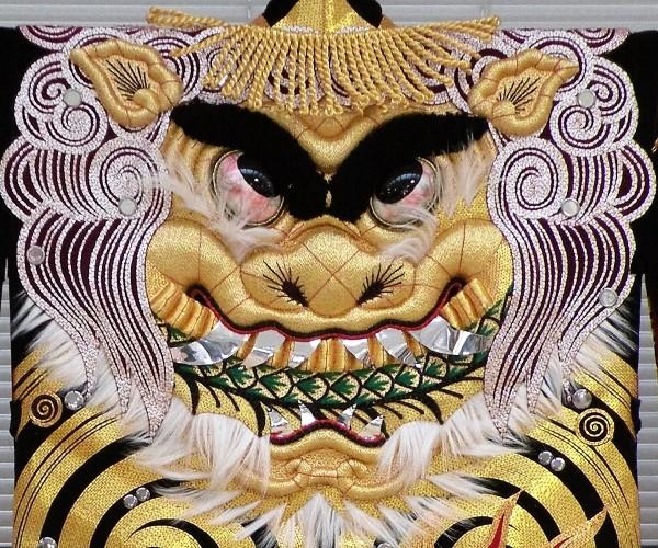 刺繍例(唐獅子)
