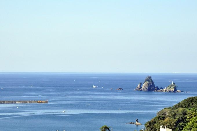 田子島沖に現れた複雑な潮目