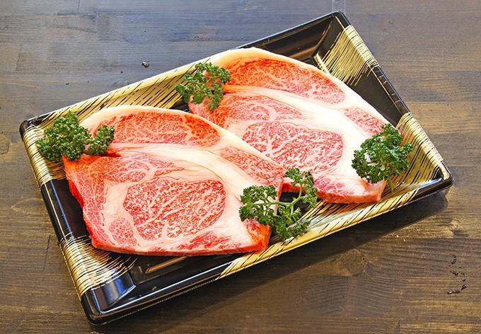 出水畜産厳選黒毛和牛A-5等級リブロースステーキ約350×2枚入