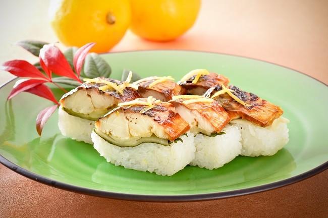 ゆず塩焼き鯖寿司