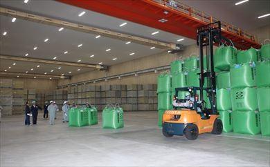 米の低温倉庫内の様子