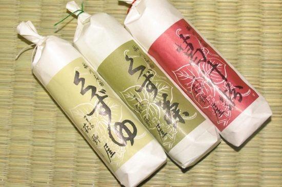 くずゆの味は三種。くずゆ・くず茶・葛汁粉です。
