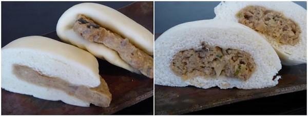 渥美特産大あさり肉まんと大あさりバーガー
