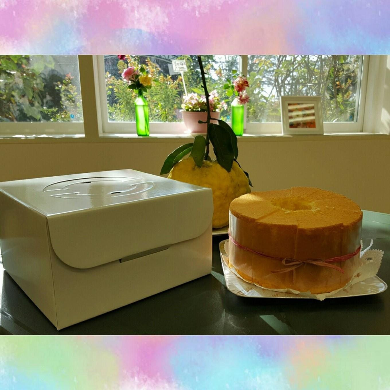 手づくり工房のゆずシフォンケーキ