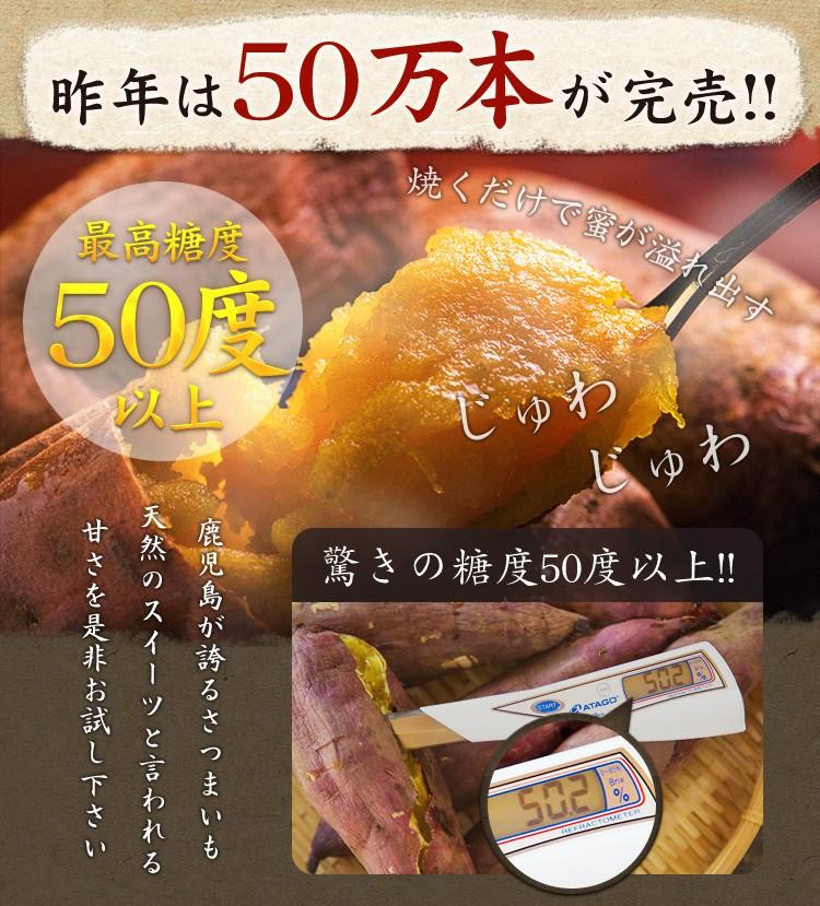 最高糖度50度以上!鹿児島が誇る天然のスイーツ「サツマイモ」の甘さ♪