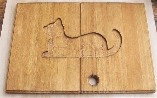 猫彫刻バージョンです。(ダーク色)