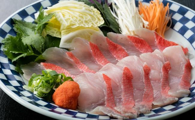 『金目鯛』しゃぶしゃぶセットをお皿に盛りつけた状態でお届けします!