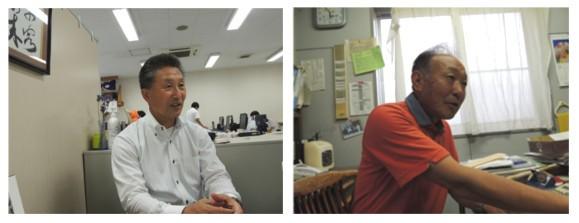 (左)有限会社ケイフーズ 照井社長 (右)有限会社ナック 照井さん