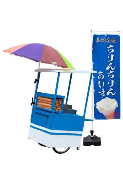 昭和35年より「ちりんちりんあいす」(氷菓)を製造販売してます。