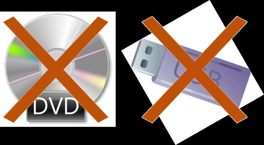 DVDやUSBメモリー、SDカードなど外部メディアの発送はありません