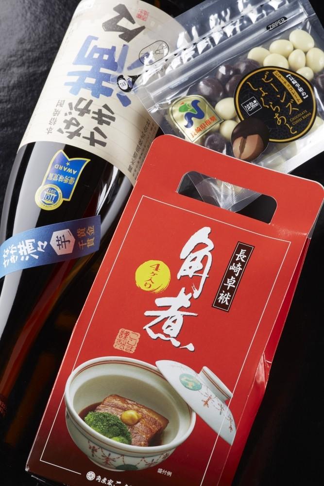 国際味覚賞審査機構(iTQi)三ツ星賞を受賞した芋焼酎との詰め合わせ