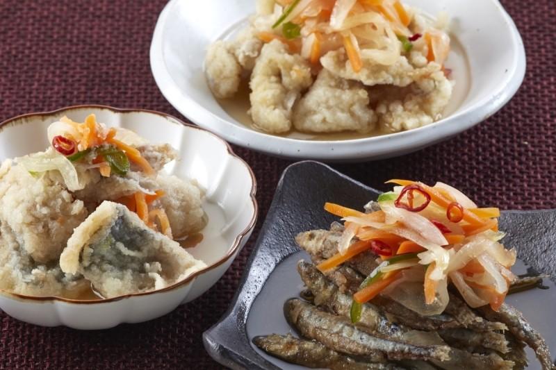 長崎産の魚と国産野菜を使用した南蛮漬けです!! 忙しいご家庭の一品に
