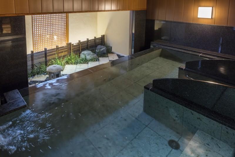 女性大浴場・石庭の湯 湯あたりを良く旅の疲れを癒やします♪