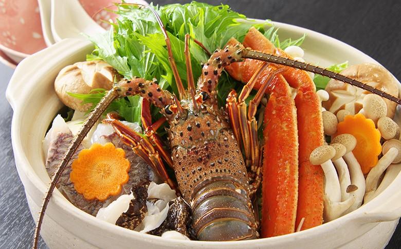 海の町須崎の魚介類、須崎名産のイセエビの海鮮鍋