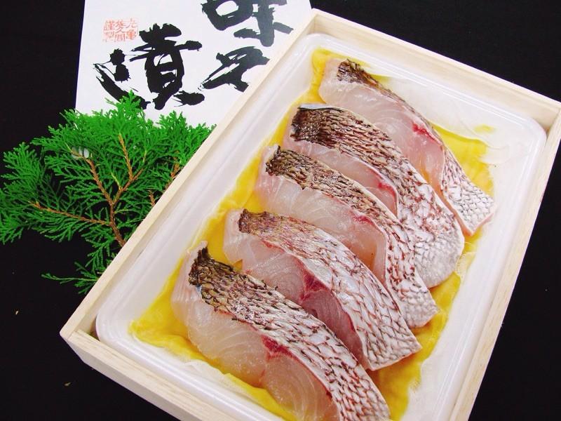 瀬戸内海で水揚げされた身の引き締まった鯛を使って味噌漬にしました!