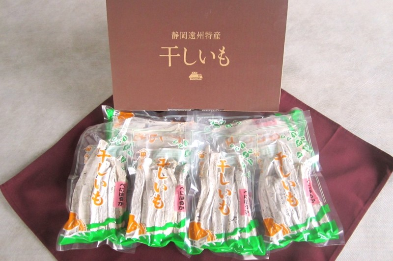 掛川市や遠州地方で収穫されたサツマイモの干し芋150g入り×6袋です