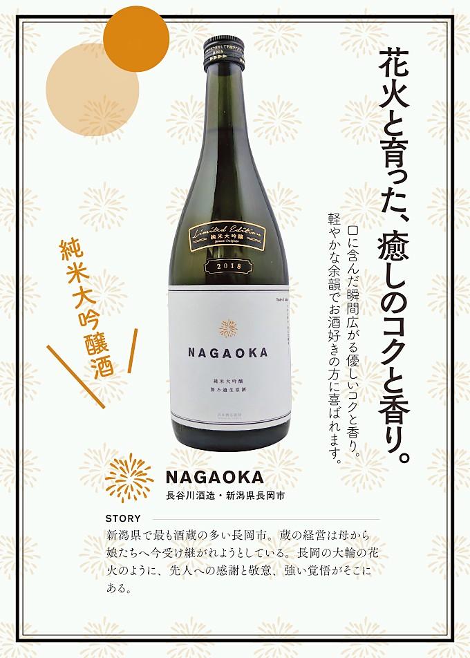 NAGAOKA 純米大吟醸 無ろ過・生・原酒