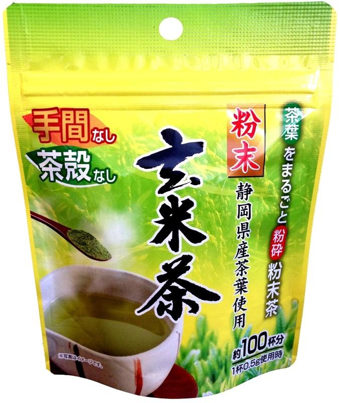 香ばしい粉末玄米茶が50g入。100杯分×5袋入りです♪