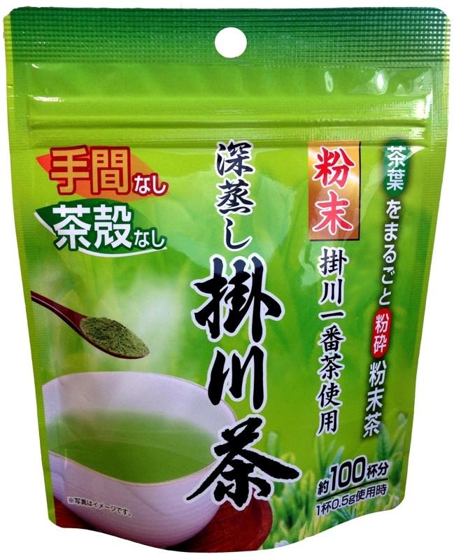一番茶の粉末掛川茶が50g・約100杯分×5袋入りです♪