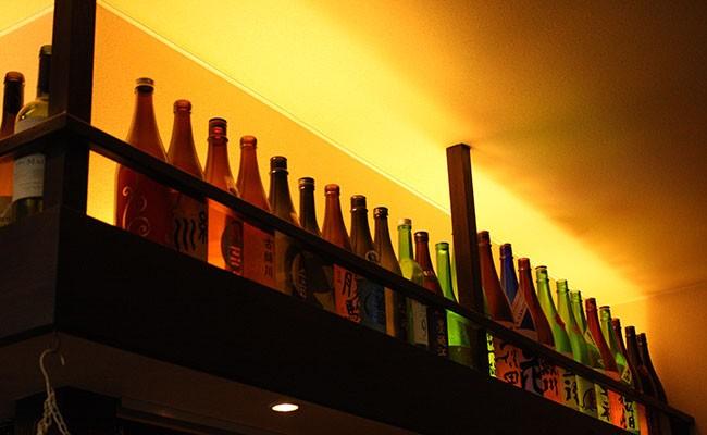 地元岩手の銘酒ほか豊富な日本酒のラインナップ