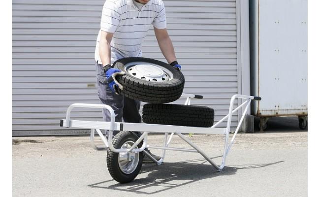 ガレージからのタイヤ移動などにも便利です。