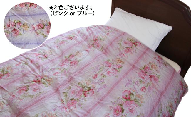 ダウン増量の羽毛布団(カラー:ピンク、サイズ:シングル)