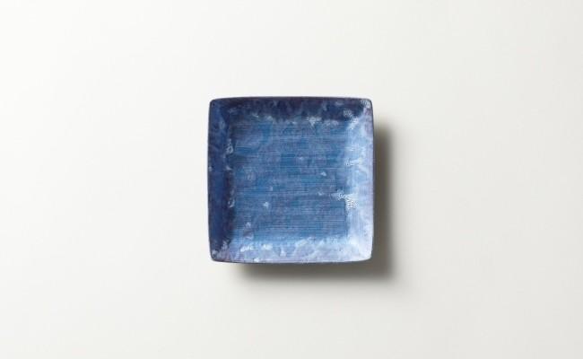有田焼/金照堂/麟Lin10.5cmスクエアプレートBlue