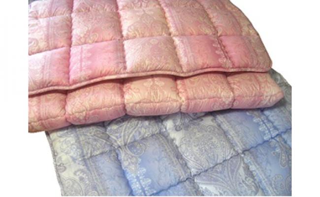 薄い、軽い、羊毛敷パット(カラー:ブルー、サイズ:シングル)