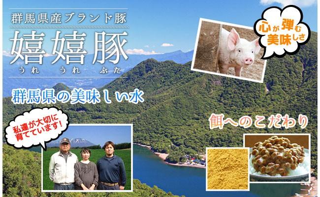 群馬県・前橋市の広大な農場「高橋養豚場」で新鮮な水と空気とこだわりの餌で育てられています。(埼玉県で加工しています)
