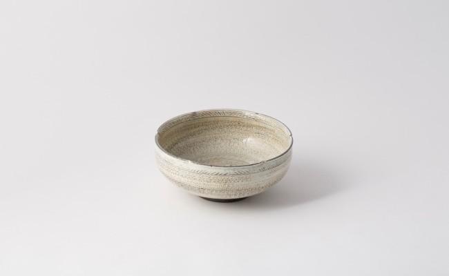 唐津焼/岡本作礼/三島唐津の鉢