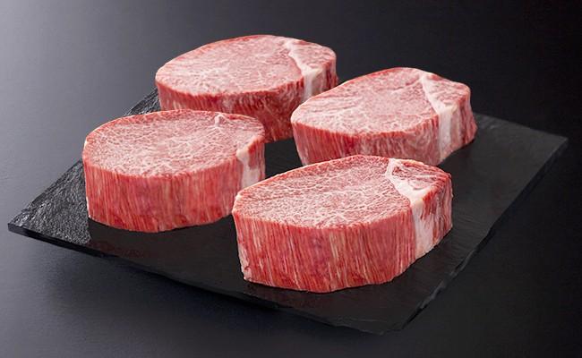 【希少部位】九州産黒毛和牛ヒレステーキ1.44kg(8枚程度)