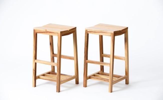 諸富家具/レグナテック/腰高椅子「根っこ」2脚