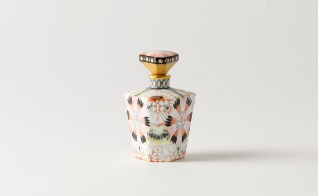 伊万里焼/畑萬陶苑/万華鏡三角香水瓶