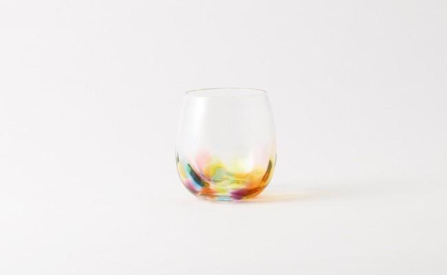 肥前びーどろ/副島硝子工業/虹色しずく型グラス