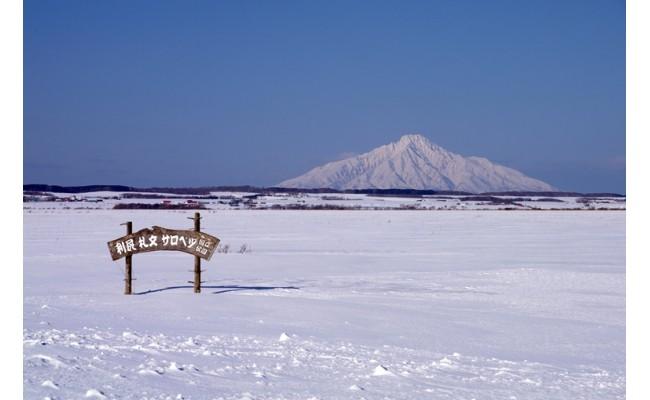 冬の利尻山
