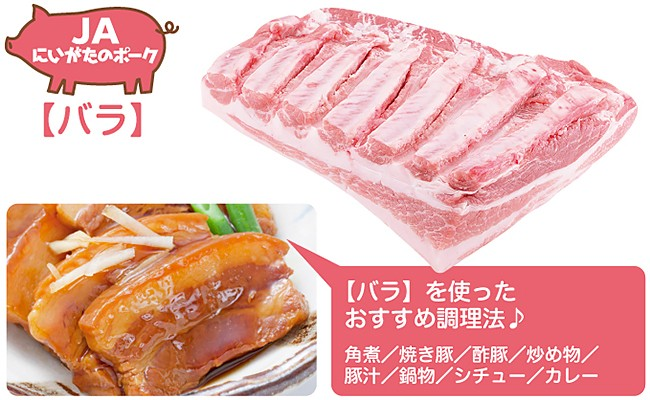 A02 新潟県弥彦村産豚肉 1.5kgセット(肩ロース・モモ・バラ)