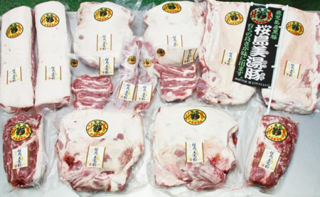 桜島美湯豚1頭(白豚)相当分の豚肉(1頭分平均46.2kg)/桜島美湯豚1頭(黒豚)相当分の豚肉(1頭分平均46.2kg)