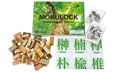 014-001【名入れ付ピースがもらえる】木製ブロック『もくロック』56ピースセット