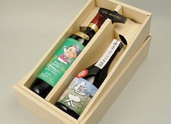 スーパー酒屋『竜太ワイン(赤)・そば焼酎竜太のセット